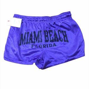 Beach By Exist Miami Beach Purple Mesh Shorts